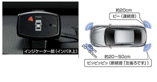 『カムリ』 純正 AXVH70 コーナーセンサー(ボイス4センサー) インジケーターキットのみ ※センサーキットは別売 パーツ トヨタ純正部品 危険通知 接触防止 障害物 オプション アクセサリー 用品