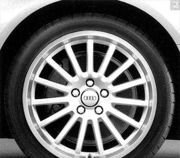 A4・S4 パーツ スポークデザイン(アイビスホワイト)(8j-18) *1本につき アウディ純正部品 8KCDN オプション アクセサリー 用品 純正 送料無料