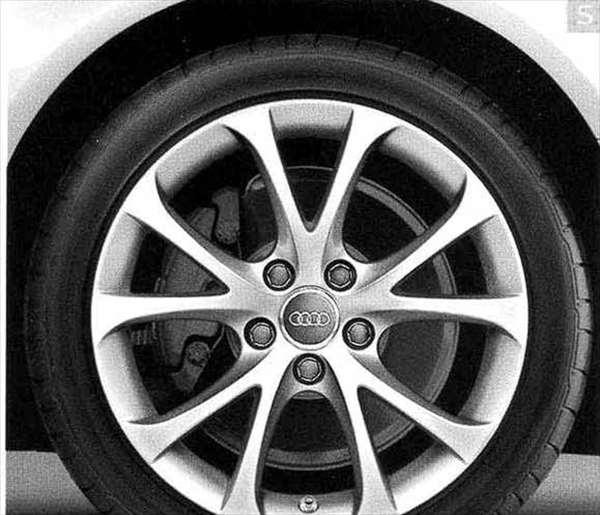 A4・S4 パーツ 5Vスポークデザイン(7.5J-17)アルミホイール ウインタータイヤ用 *1本につき アウディ純正部品 8KCDN オプション アクセサリー 用品 純正 送料無料