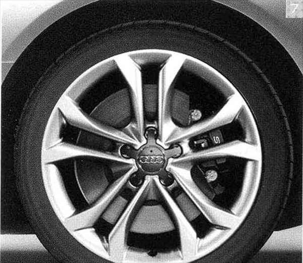 A4・S4 パーツ 5パラレルスポークSスタイリング(8J-18)アルミホイール ウインタータイヤ用 *1本につき アウディ純正部品 8KCDN オプション アクセサリー 用品 純正 送料無料