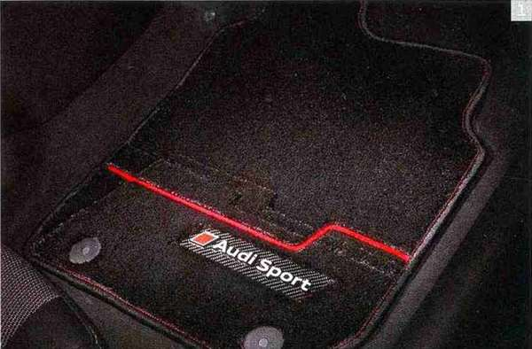 A4・S4 パーツ フロアマット プレミアムスポーツ アウディ純正部品 8KCDN オプション アクセサリー 用品 純正 マット 送料無料
