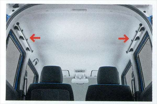 ハスラー 純正 MR31S マルチルーフバー サイド 2本セット パーツ オプション hustler 用品 通常便なら送料無料 アクセサリー 棒 スズキ純正部品 ふるさと割 車内