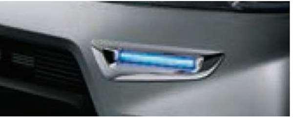 『サンバーバン』 純正 S321B S331B S321Q S331Q LEDデイタイムイルミネーション(メッキベゼル付/ブルー) パーツ スバル純正部品 オプション アクセサリー 用品