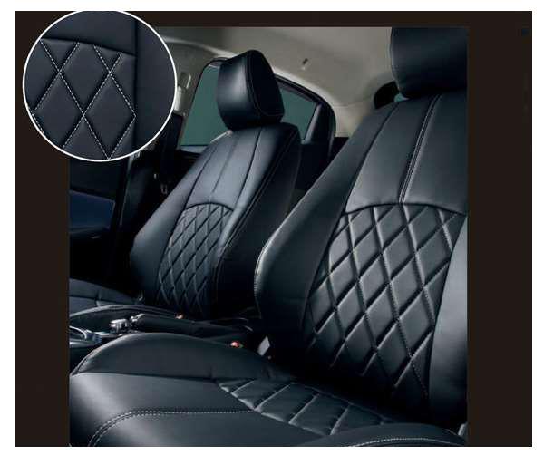 『デミオ』 純正 DJ3FS DAMD 本革調シートカバー(ブラック) パーツ マツダ純正部品 座席カバー 汚れ シート保護 DEMIO オプション アクセサリー 用品