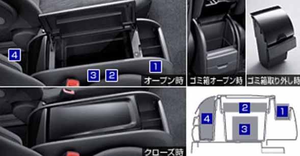 『ヴォクシー』 純正 ZRR70 コンソールボックス パーツ トヨタ純正部品 voxy オプション アクセサリー 用品