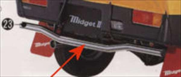 『ミゼットII』 純正 K100P リヤガードバー パーツ ダイハツ純正部品 midget2 オプション アクセサリー 用品