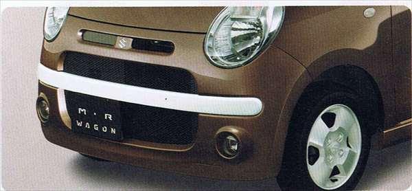 『MRワゴン』 純正 MF22S フロントバンパー&グリル(フェミニナスタイル) パーツ スズキ純正部品 カスタム エアロバンパー mrwagon オプション アクセサリー 用品