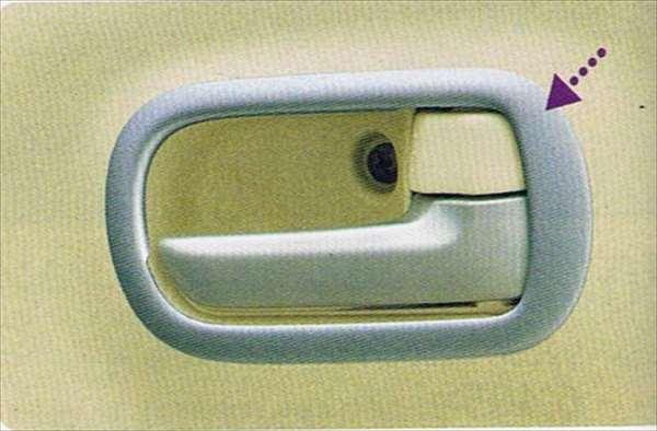 『MRワゴン』 純正 MF22S インナーハンドルベゼル(シルバー) パーツ スズキ純正部品 内装パネル 飾り ドレスアップ mrwagon オプション アクセサリー 用品