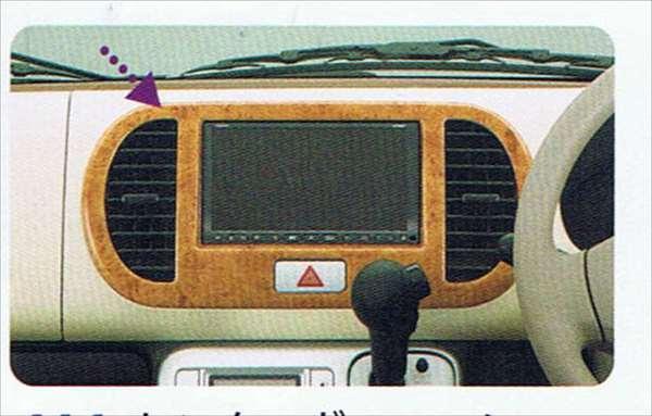 『MRワゴン』 純正 MF22S センターガーニッシュ(オプションユニット用) パーツ スズキ純正部品 ウッド 木目 内装パネル センターパネル オーディオパネル mrwagon オプション アクセサリー 用品
