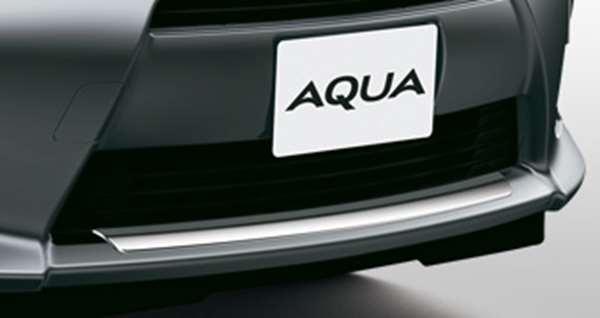 『アクア』 純正 NHP10 フロントバンパーガーニッシュ メッキ パーツ トヨタ純正部品 エアロパーツ パネル カスタム aqua オプション アクセサリー 用品