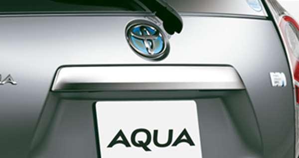flor018 『アクア』 純正 NHP10 バックドアガーニッシュ パーツ トヨタ純正部品 aqua オプション アクセサリー 用品