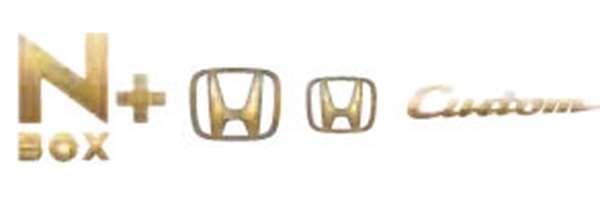 『NBOX+』 純正 JF1 ゴールドエンブレム N-BOX+Custom用 パーツ ホンダ純正部品 ドレスアップ ワンポイント オプション アクセサリー 用品