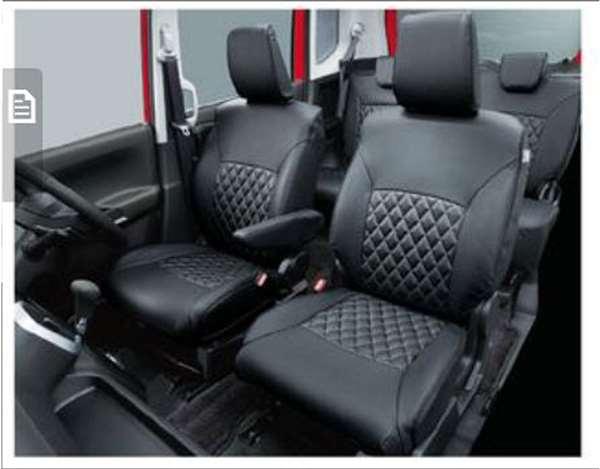 『ソリオ』 純正 MA46S MA36S MA26S 革調シートカバー 1台分(フロント、リヤセット) パーツ スズキ純正部品 座席カバー 汚れ シート保護 オプション アクセサリー 用品