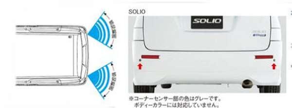 『ソリオ』 純正 MA46S MA36S MA26S  コーナーセンサー(リヤコーナーセンサー) パーツ スズキ純正部品 危険通知 接触防止 障害物 オプション アクセサリー 用品