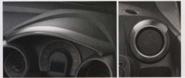 『フィット』 純正 GE6 GE7 GE8 GE9 メーターバイザー/アウトレットリング アルミ箔タイプ パーツ ホンダ純正部品 FIT オプション アクセサリー 用品
