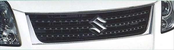 『パレット』 純正 MK21S フロントグリル(Aタイプ) パーツ スズキ純正部品 メッキ 飾り カスタム エアロ palette オプション アクセサリー 用品