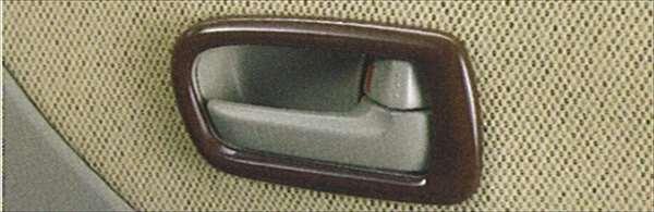 『パレット』 純正 MK21S インナーハンドルベゼル パーツ スズキ純正部品 ウッド 木目 内装パネル 飾り ドレスアップ palette オプション アクセサリー 用品