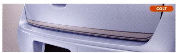 『コルト』 純正 Z21A Z23A Z27AG テールゲートプロテクター(シルバー) パーツ 三菱純正部品 荷台モール アオリ COLT オプション アクセサリー 用品
