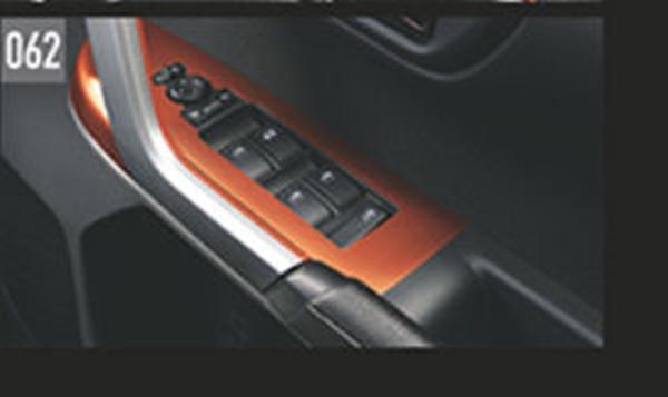 『ロッキー』 純正 A200S A210S パワーウインドゥスイッチパネル(オレンジ) パーツ ダイハツ純正部品 内装ベゼル パワーウィンドウパネル オプション アクセサリー 用品