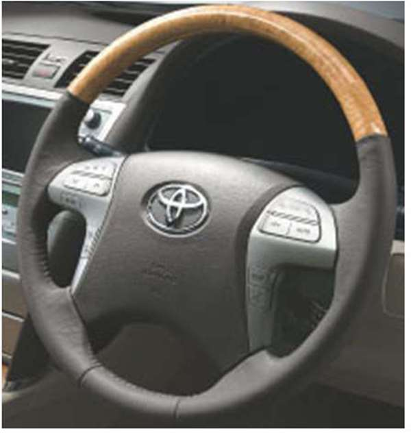 Cay006 Camry Wood Like Steering Toyota Genuine Part Parts Acv40 Acv45 Pure Option Grain Of