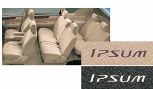 『イプサム』 純正 ACM21 ACM26 フルシートカバーラグジュアリータイプ パーツ トヨタ純正部品 座席カバー 汚れ シート保護 ipsum オプション アクセサリー 用品