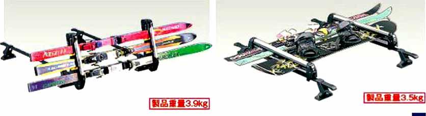 『ジムニーシエラ』 純正 JB43W スキー&スノーボードアタッチメント パーツ スズキ純正部品 キャリア別売り jimny オプション アクセサリー 用品