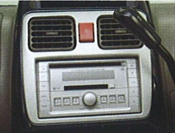 『シボレーMW』 純正 ME34 インパネセンターガーニッシュ(シルバー) パーツ スズキ純正部品 内装パネル センターパネル オーディオパネル Chevroletmw オプション アクセサリー 用品