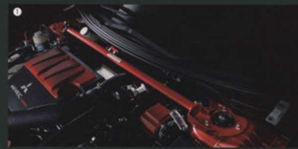 『ランサーエボリューションX』 純正 CZ4A ストラットパワーバー(フロント) パーツ 三菱純正部品 LANCER オプション アクセサリー 用品