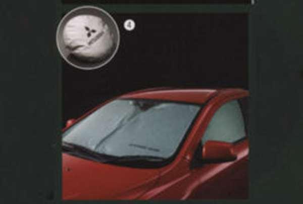 正牌的CZ4A按一个按钮避阴处零件三菱纯正零部件太阳阴影遮阳物眼罩LANCER选项配饰用品