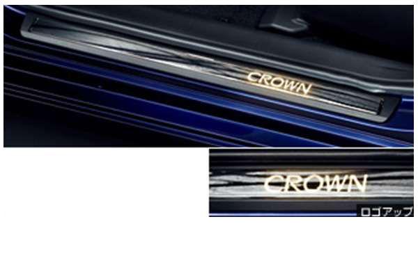 『クラウンロイヤル』 純正 AWS210 スカッフイルミネーション パーツ トヨタ純正部品 ステップ 保護 プレート crown オプション アクセサリー 用品