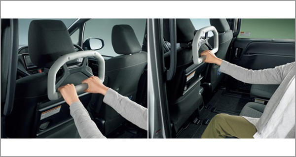 『カローラ』 純正 ZWE211 ZWE214 ZRE212 NRE210 アシストグリップ(ヘッドレスト取付タイプ) パーツ トヨタ純正部品 補助グリップ 手摺 オプション アクセサリー 用品