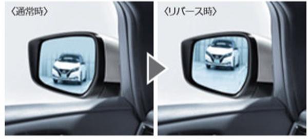 『リーフ』 純正 ZE1 リバース連動下向きドアミラー(助手席側) パーツ 日産純正部品 オプション アクセサリー 用品