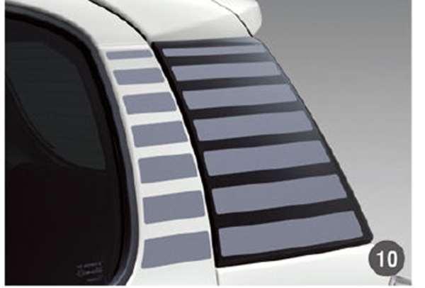 『ブーン』 純正 M700S M710S リヤクォーターストライプ(STYLE用) パーツ ダイハツ純正部品 デカール ステッカー シール オプション アクセサリー 用品