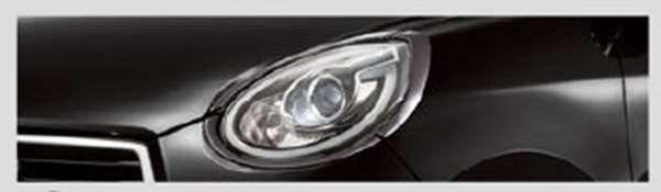 『ブーン』 純正 M700S M710S ヘッドランプガーニッシュ(CILQ用)ブラックメッキ パーツ ダイハツ純正部品 ヘッドライトパネル ドレスアップ カスタム オプション アクセサリー 用品