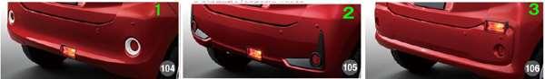 『ブーン』 純正 M700S M710S リヤフォグランプ パーツ ダイハツ純正部品 フォグライト 補助灯 霧灯 オプション アクセサリー 用品