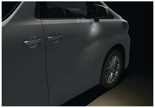 『アルファード』 純正 AYH30W GGH30W GGH35W AGH30W AGH35W ウェルカムライト(運転席・助手席) パーツ トヨタ純正部品 イルミネーション 明かり 照明 オプション アクセサリー 用品