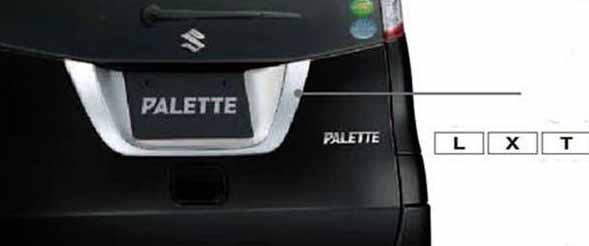 『パレット』 純正 MK21S リヤガーニッシュ パーツ スズキ純正部品 メッキ palette オプション アクセサリー 用品