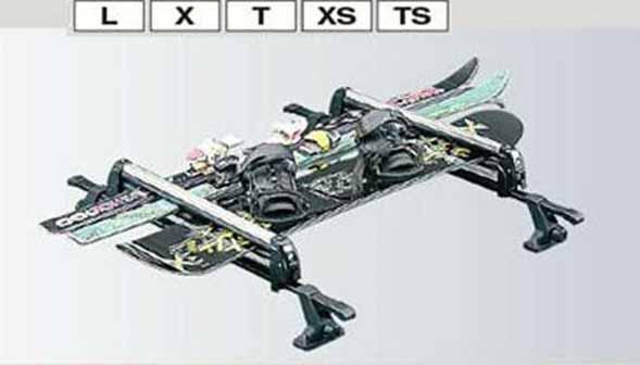 『パレット』 純正 MK21S スキー&スノーボードアタッチメント パーツ スズキ純正部品 キャリア別売り palette オプション アクセサリー 用品