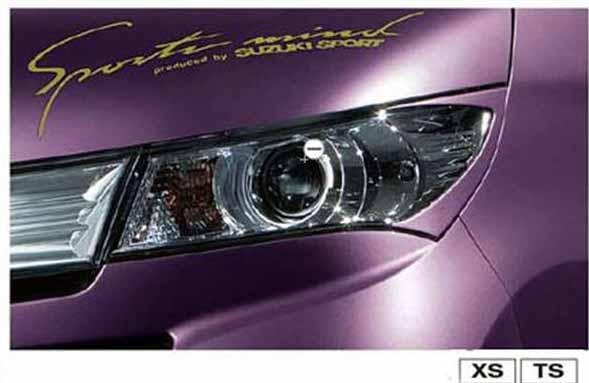 『パレット』 純正 MK21S ヘッドランプガーニッシュ 左右セット パーツ スズキ純正部品 ヘッドライトパネル 飾り カスタム palette オプション アクセサリー 用品