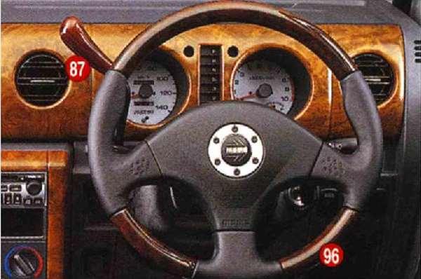 『ネイキッド』 純正 L750S 760S ウッド&レザーステアリング パーツ ダイハツ純正部品 naked オプション アクセサリー 用品