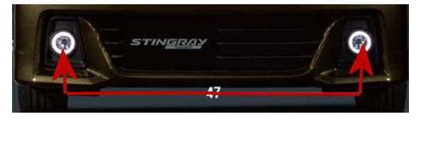 『ワゴンR』 純正 MH55S MH35S リングイルミ付きフォグランプ パーツ スズキ純正部品 フォグライト 補助灯 霧灯 オプション アクセサリー 用品