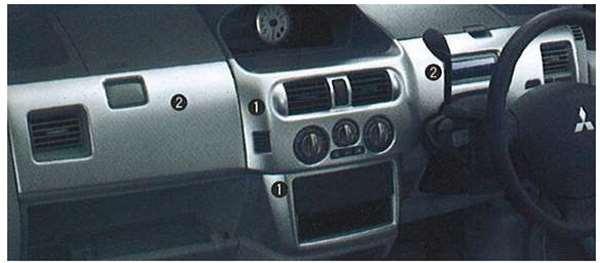 『ekアクティブ』 純正 H81W アクセントパネル パーツ 三菱純正部品 オプション アクセサリー 用品