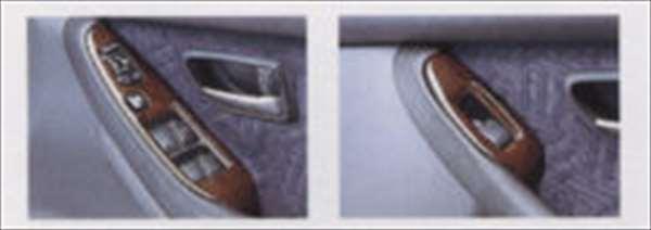 『レガシィ』 純正 BE5 BE9 BEE BH5 BH9 BHC BHE ウッドタイプパネル(ブラック) ドアトリム4点セット パーツ スバル純正部品 legacy オプション アクセサリー 用品