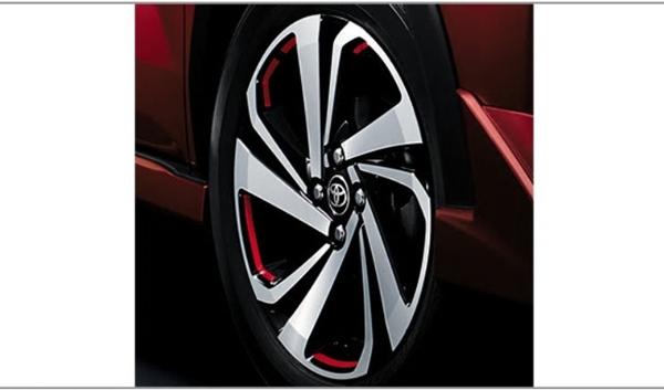 『ライズ』 純正 A200A A210A ホイールデカール (レッド・17インチ用) ※1台分は2セット必要です パーツ トヨタ純正部品 ステッカー シール ワンポイント オプション アクセサリー 用品
