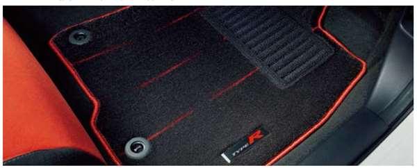 『シビック タイプR』 純正 FK8 フロアカーペットマット(デザインタイプ) パーツ ホンダ純正部品 フロアカーペット カーマット カーペットマット オプション アクセサリー 用品