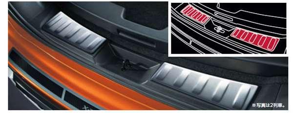 『エクストレイル』 純正 T32 NT32 HT32 HNT32 ラゲッジキッキングプレート パーツ 日産純正部品 スカッフプレート ステップ 保護 オプション アクセサリー 用品