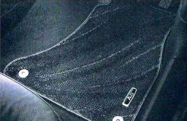 A8 パーツ フロアマット(コンフォート)ブラック(ロング) アウディ純正部品 4HCREF 4HCTGF 4HCTGL オプション アクセサリー 用品 純正 マット 送料無料