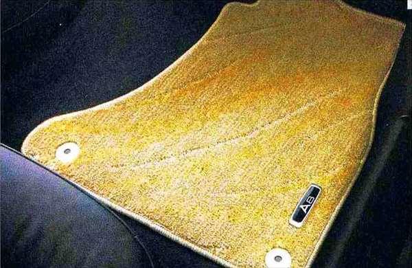 A8 パーツ フロアマット(コンフォート)ベージュ(ロング) アウディ純正部品 4HCREF 4HCTGF 4HCTGL オプション アクセサリー 用品 純正 マット 送料無料