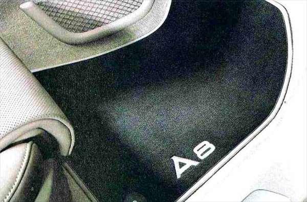 A8 パーツ フロアマット(ベロア)リヤ アウディ純正部品 4HCREF 4HCTGF 4HCTGL オプション アクセサリー 用品 純正 マット