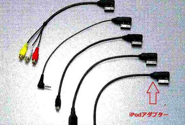 A8 パーツ MMI接続アダプターのiPodアダプターのみ1本※矢印部分のみ アウディ純正部品 4HCREF 4HCTGF 4HCTGL オプション アクセサリー 用品 純正